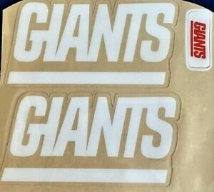 GIANTS BLOCK WHITE Side  DECALS with FRONT GIANTS  NAMEPLATE 20mil 3M Laminate