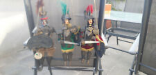 3 Marionetten aus Sizilien Orlando, Rinaldo, Sarazene Handarbeit