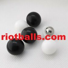 100 X Less Lethal .43 Cal Paintballs 2.2 Grams Pvc W Metal self defense White