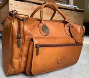 Claire Chase Leather Classic Sports Valise