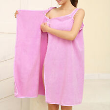 Womens Superfine Fiber Wearable Bath Towel Shower Bath SPA Wrap Body Bathrobe