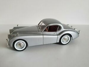 Signature Models Jaguar XK 120 Silber 1949 Modellauto Metall 1:18 Neuwertig RAR