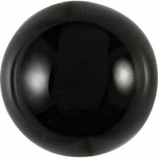 UNUSUAL 12mm ROUND CABOCHON-CUT NATURAL AFRICAN JET-BLACK ONYX GEMSTONE