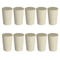 10Pcs Solid Tapered Shaped Rubber Plug Stopper Bungs Flask Tube Bottle Lab Sight