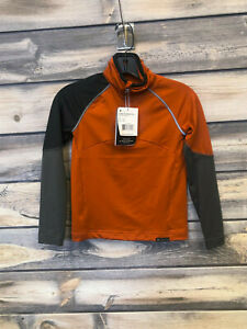 Youth Obermeyer Transport Tech Baselayer Top color Iron Oxide size large