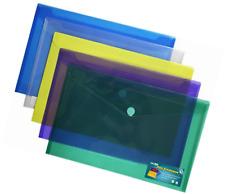 Premium Poly Envelope with Velcro Closure-5pc Mix Colors Set, Letter /A4 Size-tr