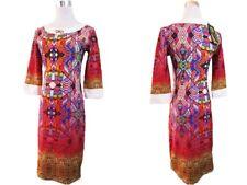 Femme New Fashion Soirée Inspiration Designer Imprimer Robe Sz 10-12 V71 DG/S