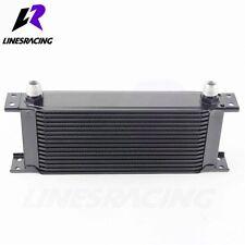 16 Row 10AN Universal Engine Transmission 248mm Oil Cooler Kit Black Fits BMW