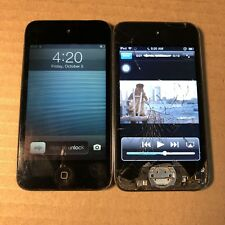 2 Apple iPod Touch 4th Generation Black (32gb & 8gb) - with issues