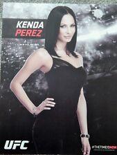 UFC KENDA PEREZ DELUXE 8 1/2 X11 OFFICIAL PHOTO COLLECTIBLE