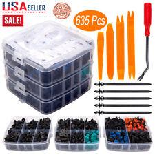 635Pcs Car Body Plastic Auto Fasteners Push Trim Clips Pin Rivet Bumper Kit USA