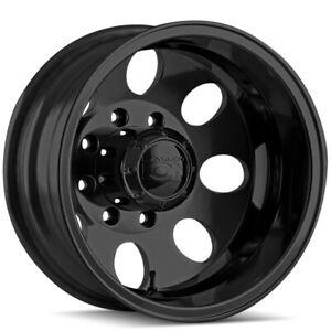 "Ion 167 Dually Rear 17x6.5 8x6.5"" -142mm Matte Black Wheel Rim 17"" Inch"