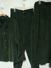 Cynthia Max woman's size XL 3 piece jacket pants skirt  >