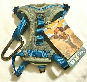NEW JOURNEY DOG HARNESS BY KURGO SIZE SMALL BLUE & GREY FOR 10 TO 25 LBS