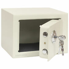 BEIGE KEY OPERATED HOME SECURITY MONEY/CASH SAFE STRONG STEEL DESIGN CE APPROVED