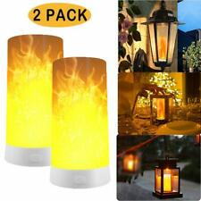 LED Candles Effect Magnetic USB Rechargeable Flame Bulb Lamp Lantern night Light