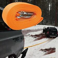 """3"""" X 20' Tow Strap Rope Heavy Duty Recovery Rope 20,000 Lb Capacity Yellow Rope"""
