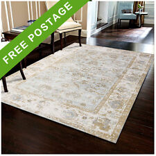 Beige Cream Floor Rug Floral Classic Vintage Allover Traditional Carpet 155x225