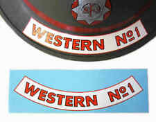 WW2 British NFS Decal National Fire Service Helmet Force Names Scotland Brigades