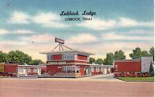 Lubbock Lodge Motel 1950s Vintage Lubbock Texas Postcard  wolc3