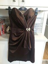 Size 8 Satin Dress Evening Wear Vintage Stule 40s 50s  Beaded