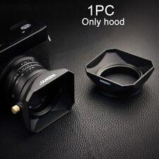 Camera Square Shape Adjustable Anti Glare Windproof Lens Hood Retro Style