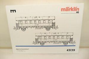 Märklin H0 43139 Set mit 2x DB-Donnerbüchse, rot, 3. + 2./3. Klasse, KK   J82
