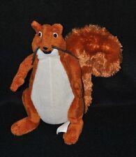 Peluche doudou écureuil brun CAISSE D'EPARGNE blanc roux 20 cm TTBE
