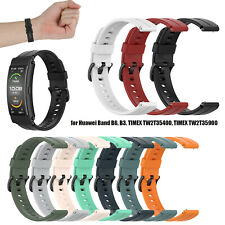 Silicone Watch Band Wristband Soft Strap for Huawei Band B6/TIMEX TW2T35400 16mm
