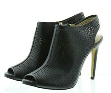 Ann Taylor Women's Marissa Peep Toe Ankle Heel Booties Shoes 202429 Black