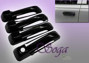 FOR 2010-2017 DODGE RAM 2500 3500 OVERLAY GLOSS BLACK DOOR HANDLE COVER COVERS 8