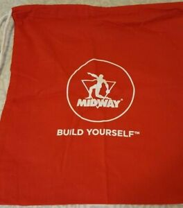 Midway Labs Build Yourself Drawstring Bag Backpack Red New