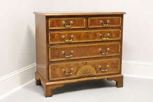 Vintage Oyster Veneer Chippendale Style Bachelor Chest from Colony Furniture