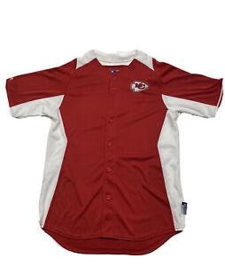 Kansas City Chiefs Majestic Men's Red White Cool Base Jersey Size Medium