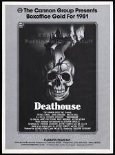DEATHOUSE aka SILENT NIGHT BLOODY NIGHT__Original 1981 Trade AD / horror promo