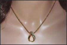 Genuine Swan Signed Swarovski Crystal Pendant Necklace & Pierced Earrings Set