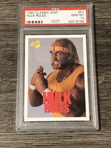 1990 Classic WWF Hulk Hogan #57 Psa 10 Gem Mint Rare Pop 10
