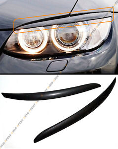 ABS HEADLIGHT COVER EYELID EYE LID FOR 08-2012 BMW E92 E93 335IS 335XI COUPE 2DR