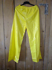 PVC-U-Like PVC Trousers Pants Shiny Plastic Bottoms Joggers M Yellow Vinyl