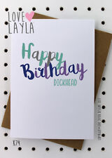 Greetings Card / Birthday / Cheeky / Comedy / Love Layla / Funny / Humour / K74