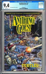 Anything Goes! #5 CGC 9.4 WP 1987 3828809003 Kevin Eastman & Peter Laird TMNT