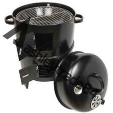 3-in-1 Steel Portable BBQ Grill Roaster Smoker Steamer Outdoor Charcoal Cooking