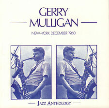 GERRY MULLIGAN - NEW-YORK DECEMBER 1960 (1989 JAZZ CD REISSUE FRANCE)