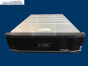 EMC VNX5200 BLOCK OE SAN Storage w/VAULT PACK 5x V4-2S10-600 600GB 10k 8GB 1gbe