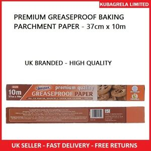 PREMIUM GREASEPROOF BAKING PARCHMENT PAPER - non stick roll sheet kitchen