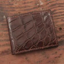 ed6d63ae0 Brown Alligator Bifold Wallet - Amish USA Handmade Billfold Cash Wallet