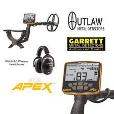 Garrett Ace Apex Metal Detector with Ms-3 Wireless Z-Lynk Headphones