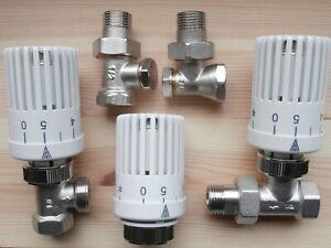 Heizkörper Thermostatventil Thermostatkopf Eck Durchgang Thermostat Dietsche NEU