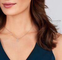 Damen Diamanten Kette mit Wunschbuchstaben Buchstabe A-Z 14K 585 Gold 0,19ct VS