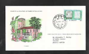 St. VINCENT - FIRST DAY OF ISSUE COVER - STAMPS FROM ALL COUNTRIES 1977